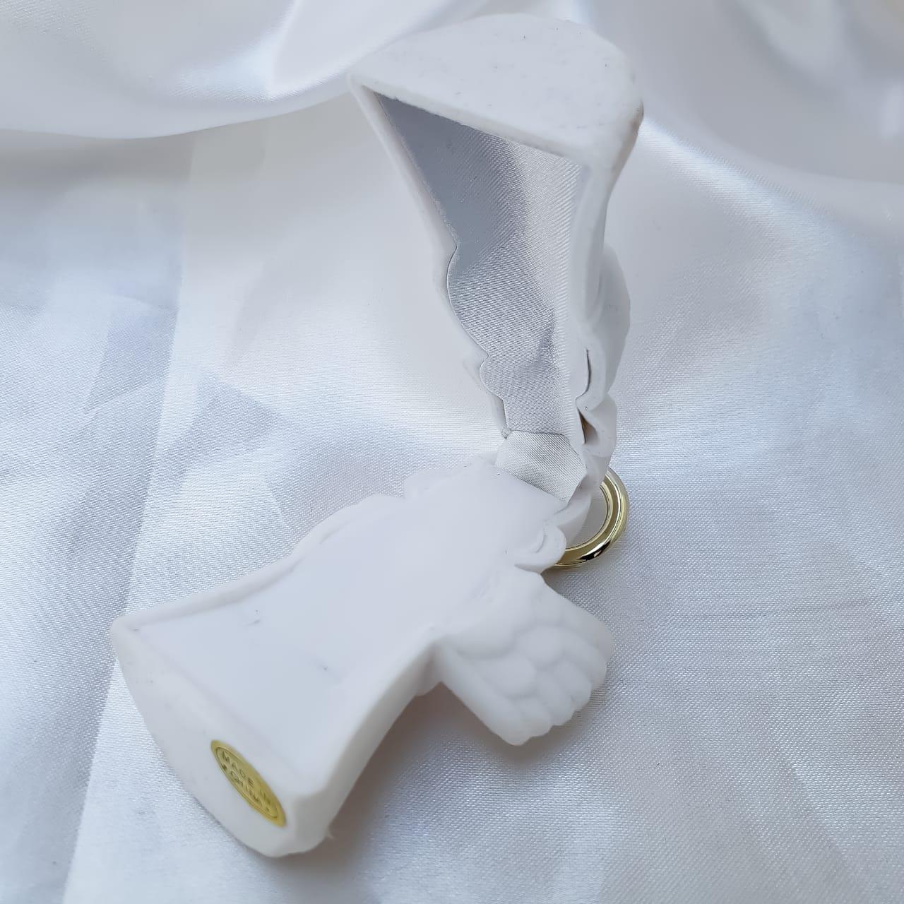 Caixinha em Veludo  Anjo Branco