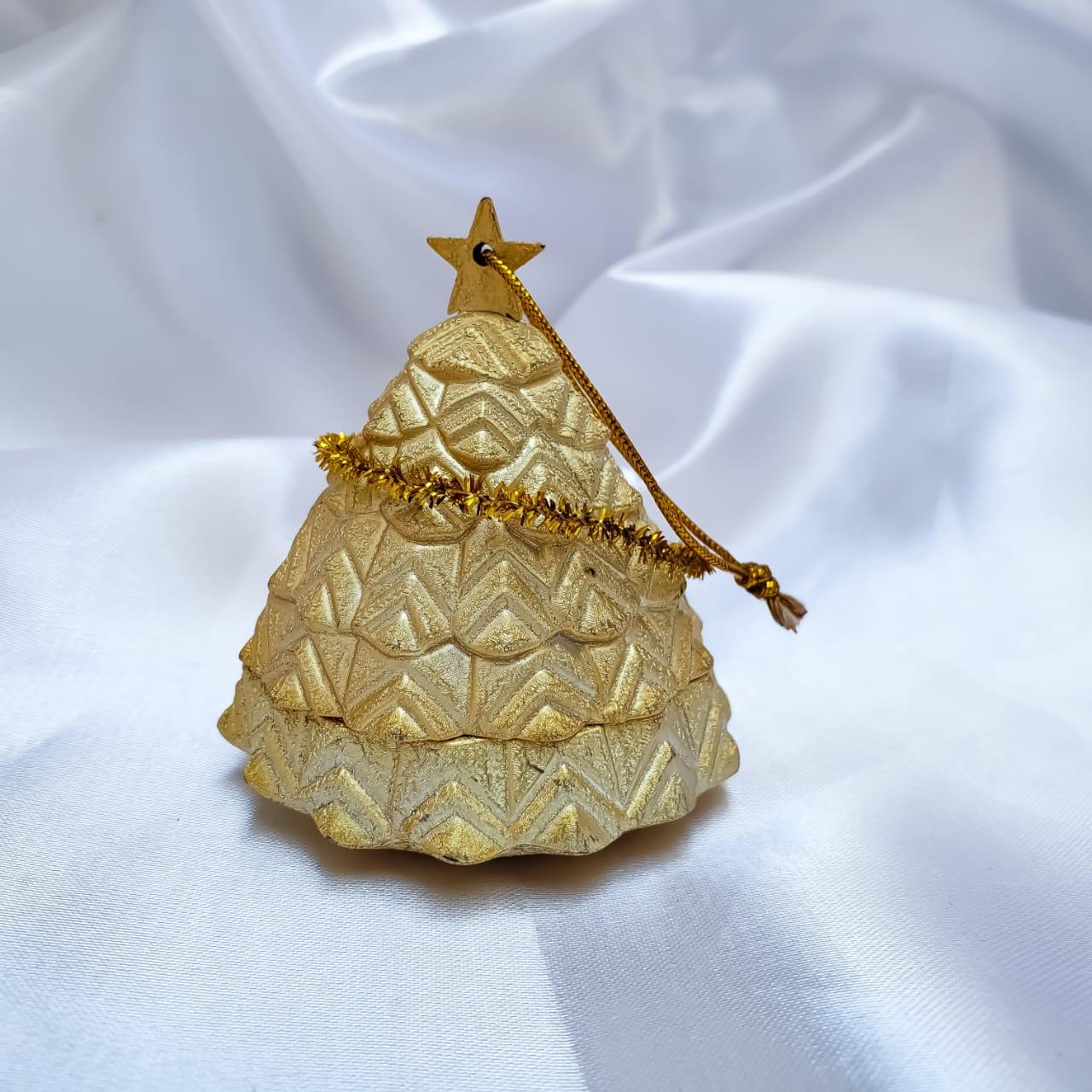 Caixinha em Veludo Arvore de Natal