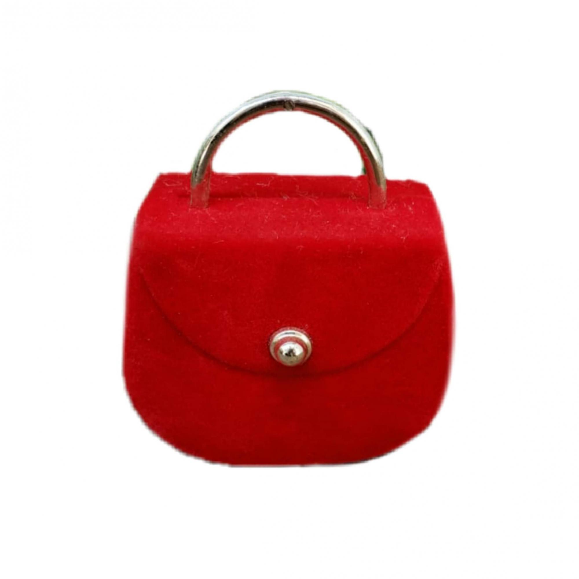 Caixinha em Veludo Bolsa Vermelha
