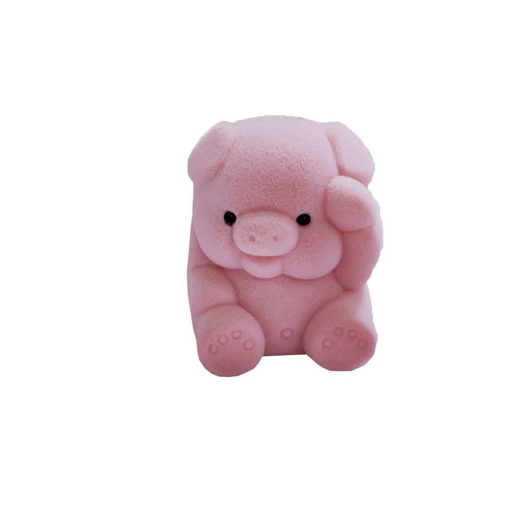 Caixinha em Veludo Porco Rosa