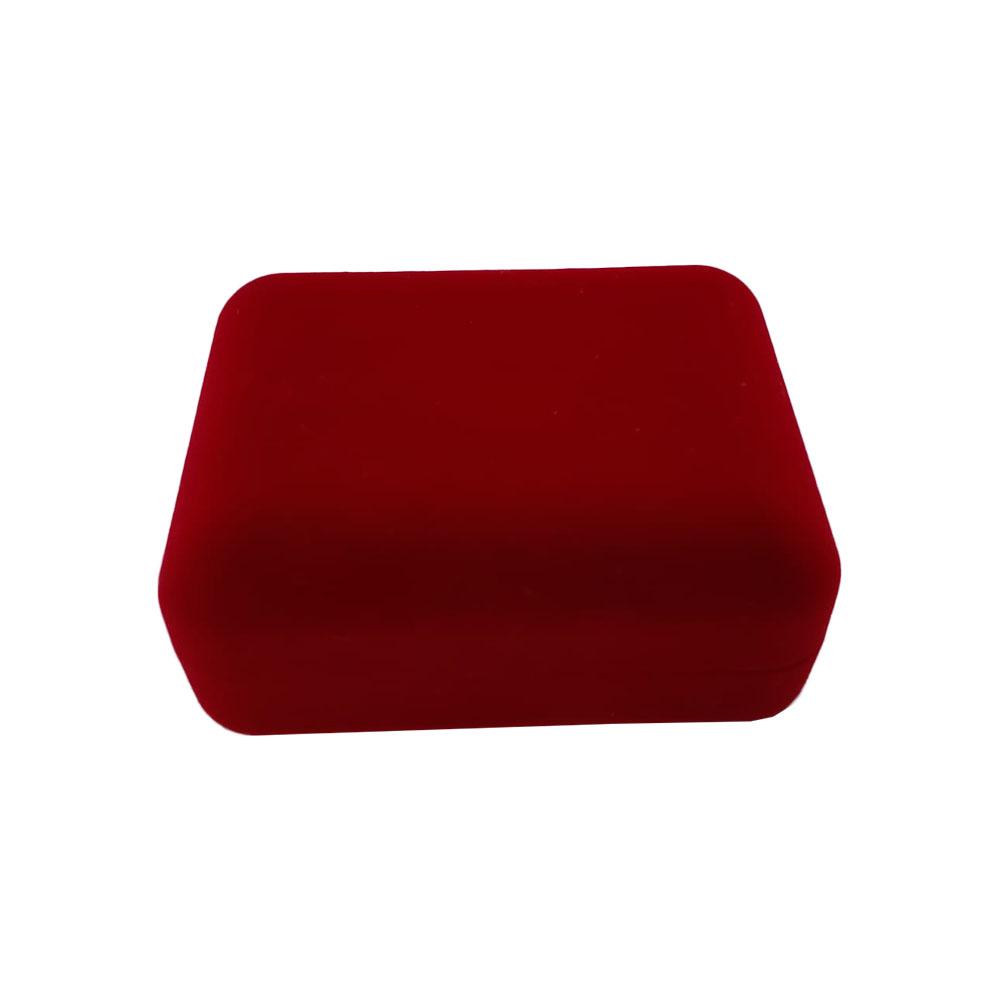 Caixinha em Veludo Retangular Vermelha (Aliança)