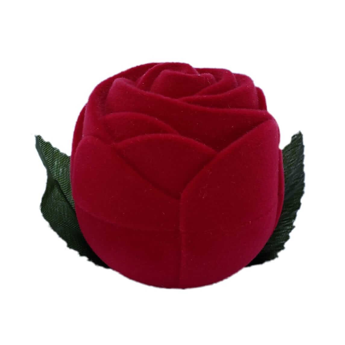 Caixinha em Veludo Rosa Grande sem Caule