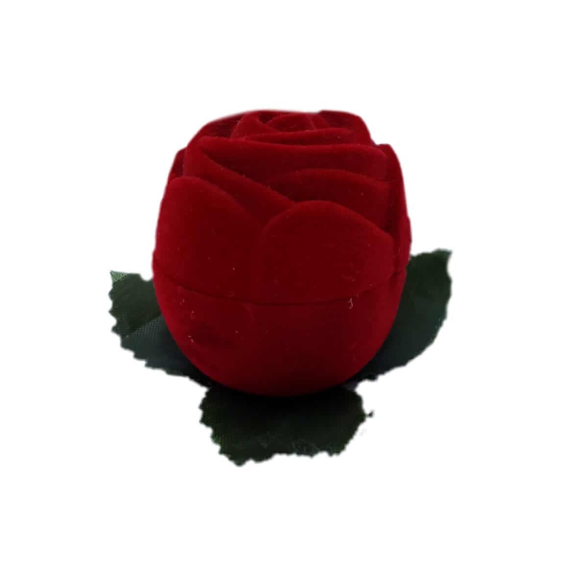 Caixinha em Veludo Rosa Pequena S/ Caule (Aliança)