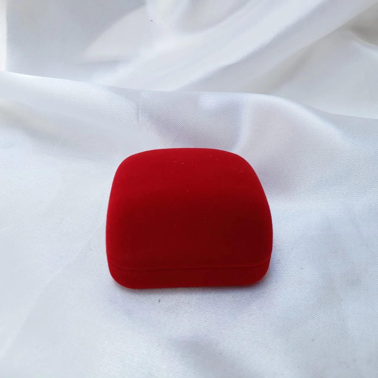 Caixinha em Veludo Vermelha (Aliança)