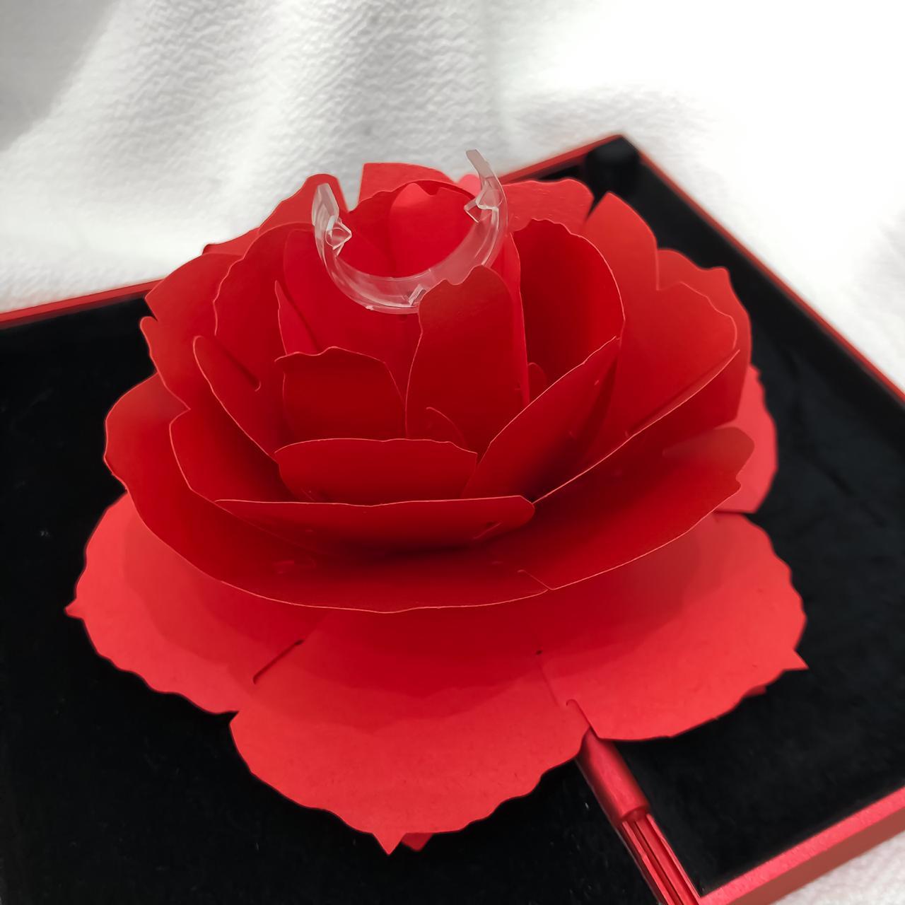 Caixinha Estojo Flor 3D Vermelha