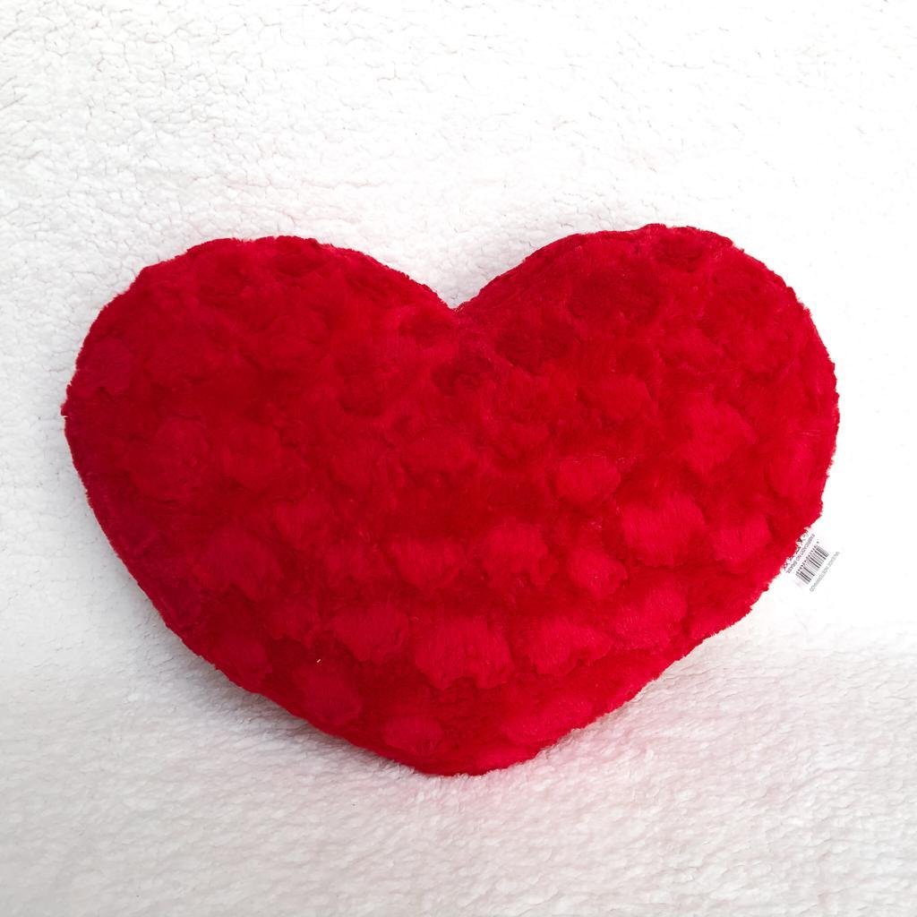 Coração De Pelúcia Vermelho G