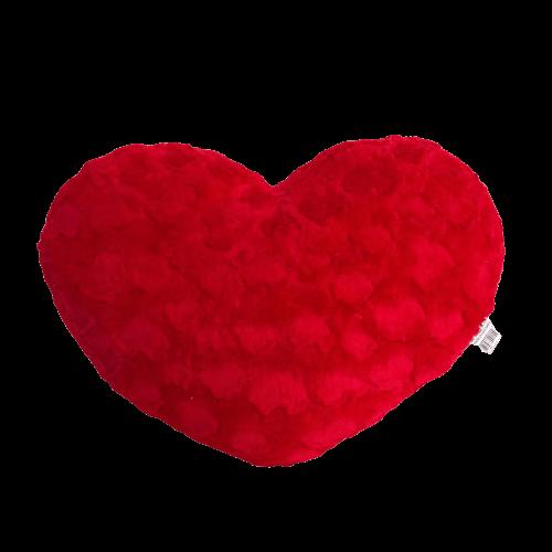 Coração De Pelúcia Vermelho M