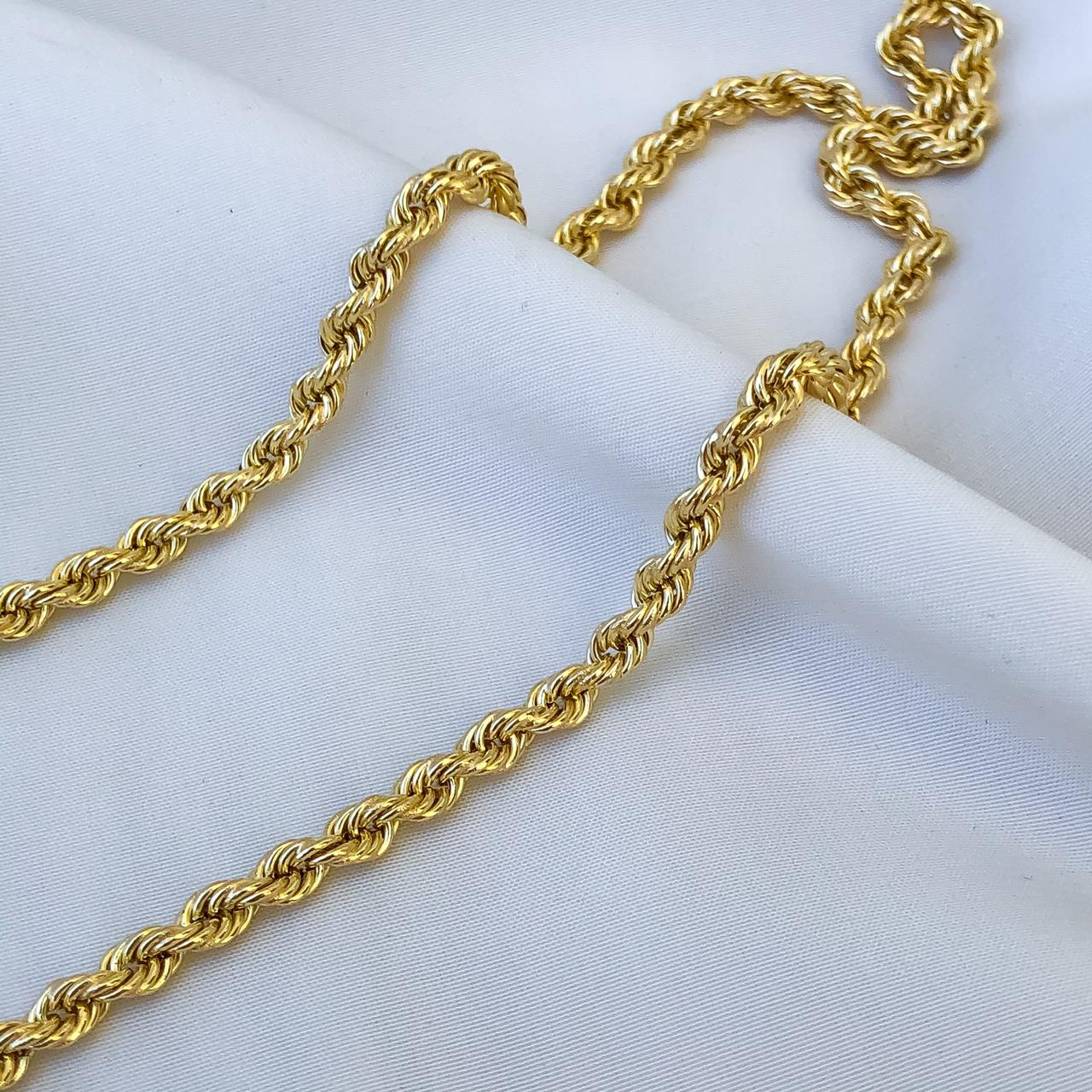 Corrente Cordão Baiano em Ouro 18K 45cm