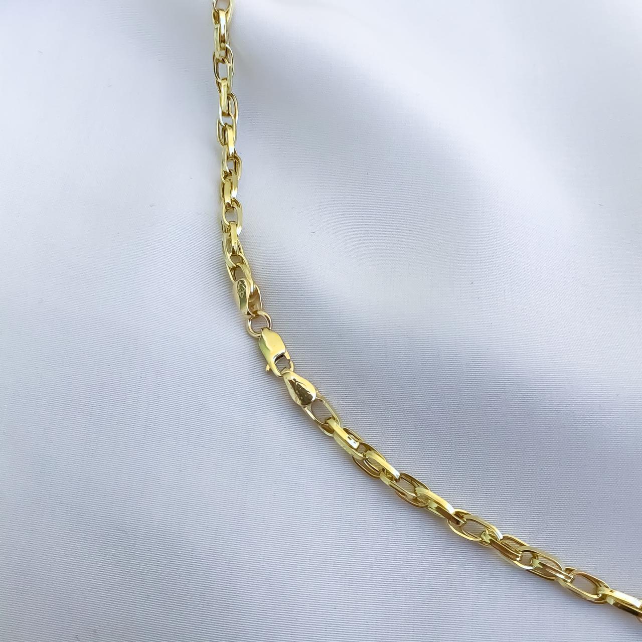 Corrente Elo Duplo em Ouro 18K 60cm