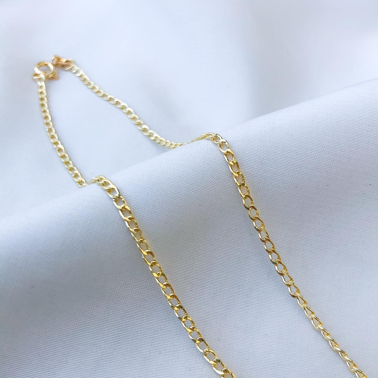 Corrente Groumet Curto em Ouro 18K 45cm