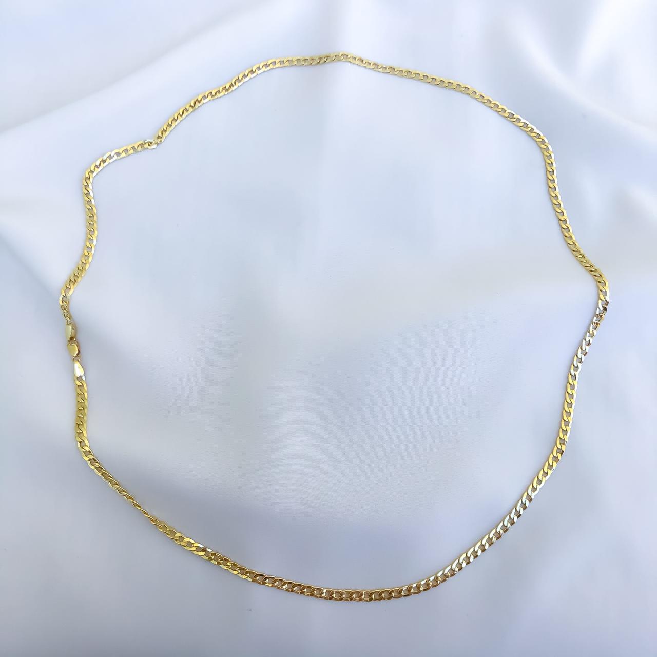 Corrente Groumet Fino em Ouro 18K 60cm