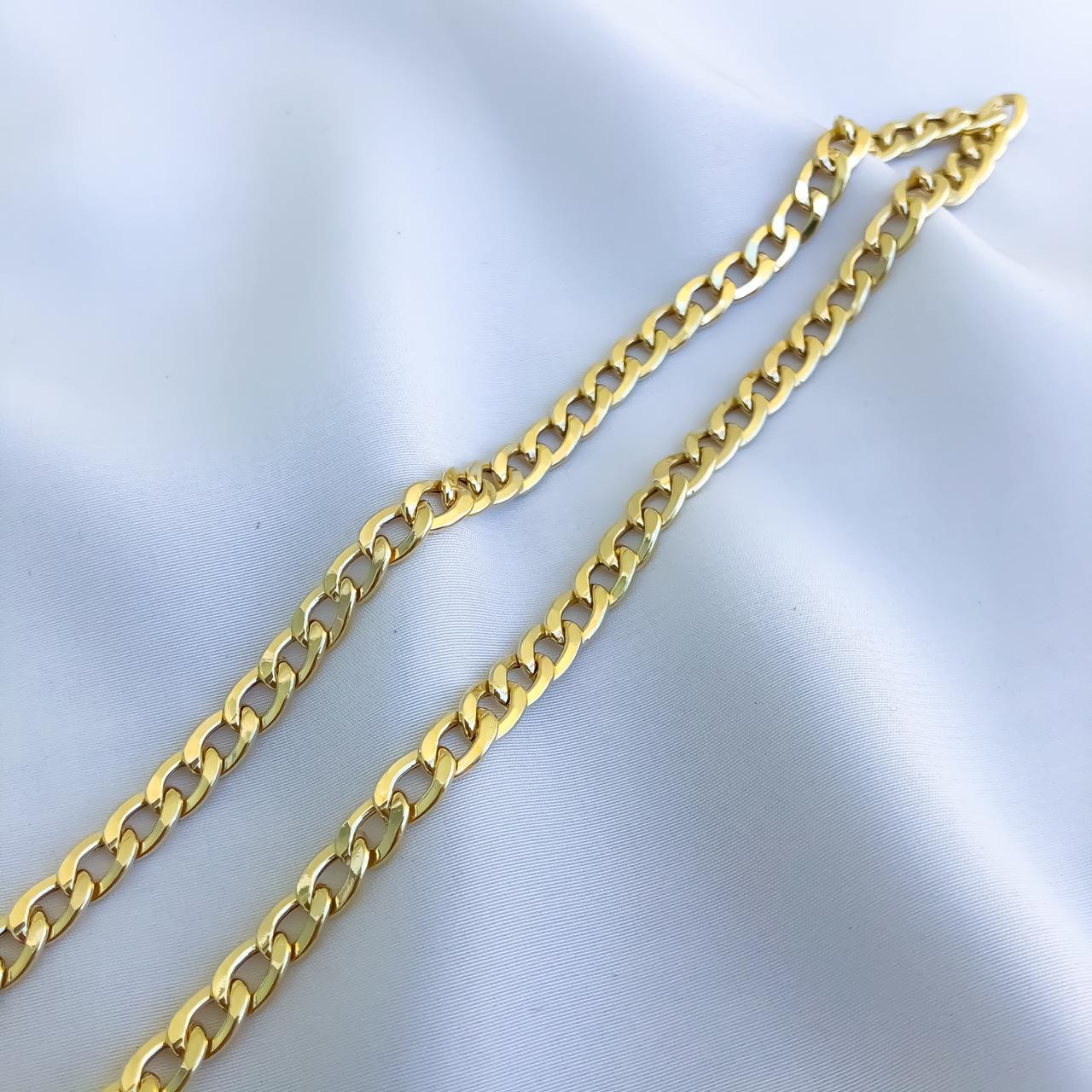 Corrente Groumet Médio em Ouro 18K 60cm