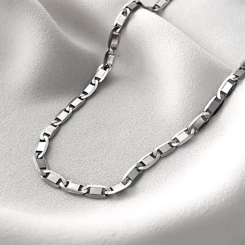 Corrente Piastrine em Prata 925 60cm