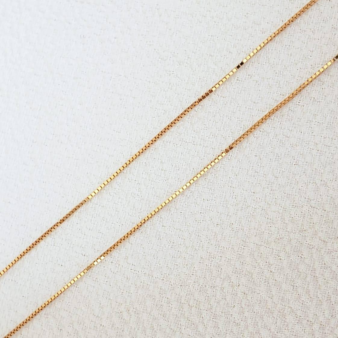 Corrente Veneziana em  Ouro 18k 45cm
