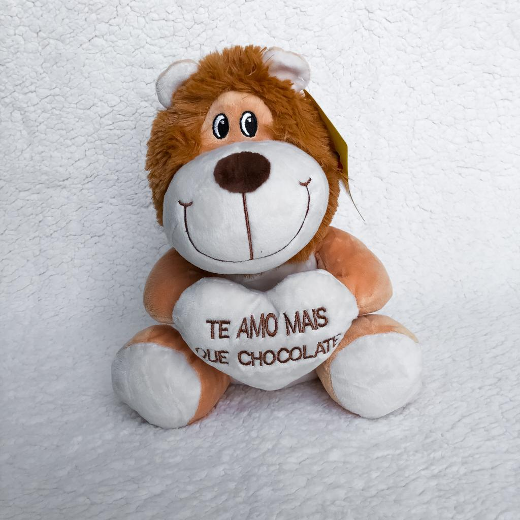 Leão De Pelúcia Te Amo Mais que Chocolate P