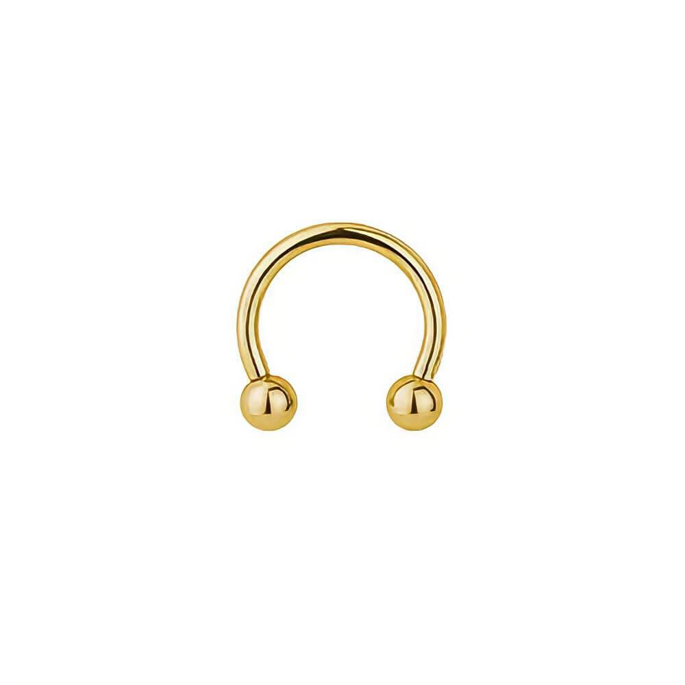 Piercing Argola Aberta com Bolinhas em Ouro 18K