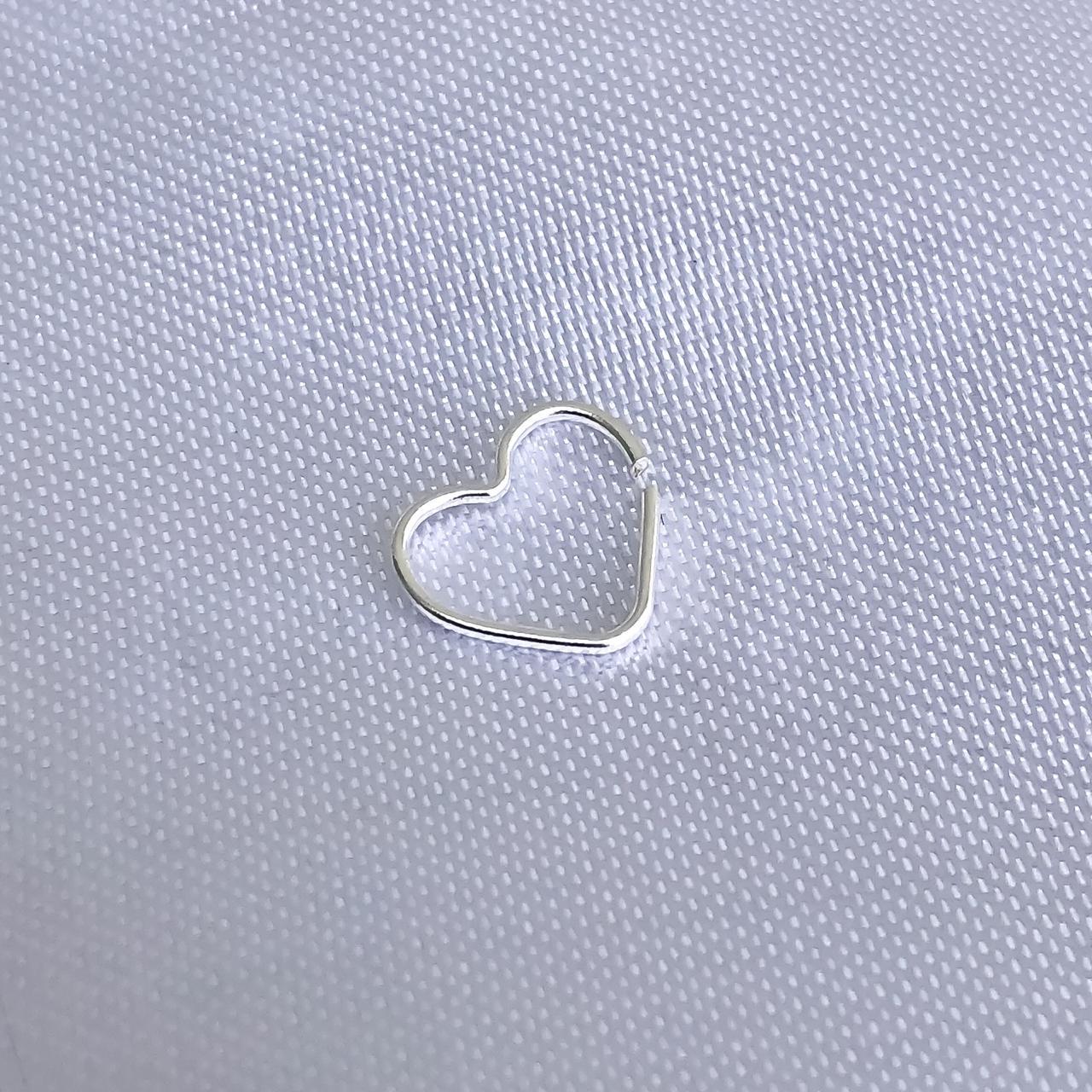 Piercing em Prata 925 Coração Helix