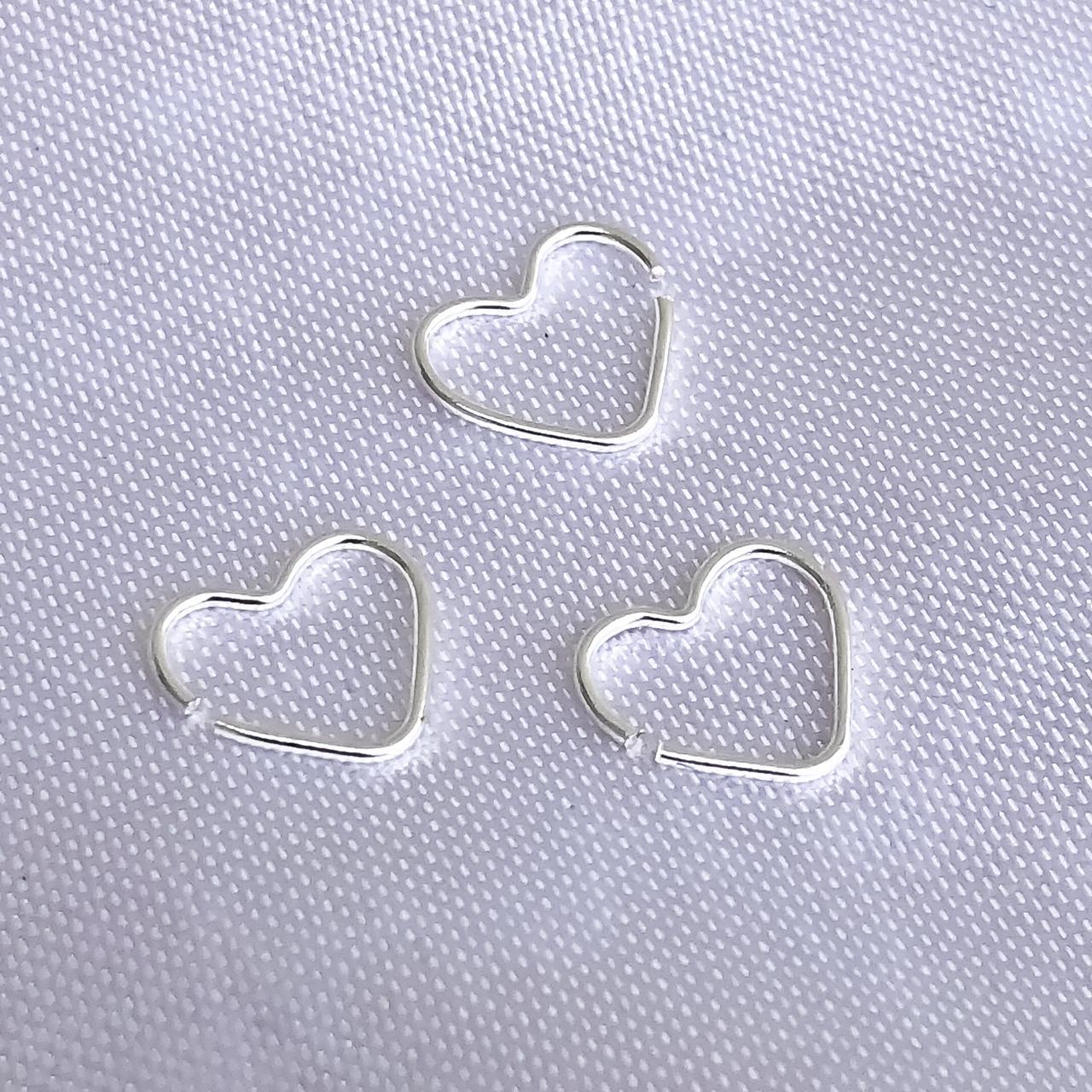 Piercing em Prata 925 Coração Helix (Trio)