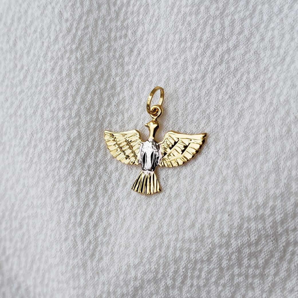 Pingente Espirito Santo em Ouro 18K Amarelo e Branco