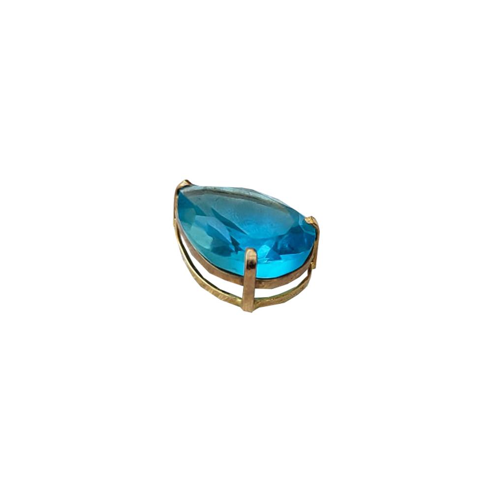 Pingente Gota em Ouro 18K Azul