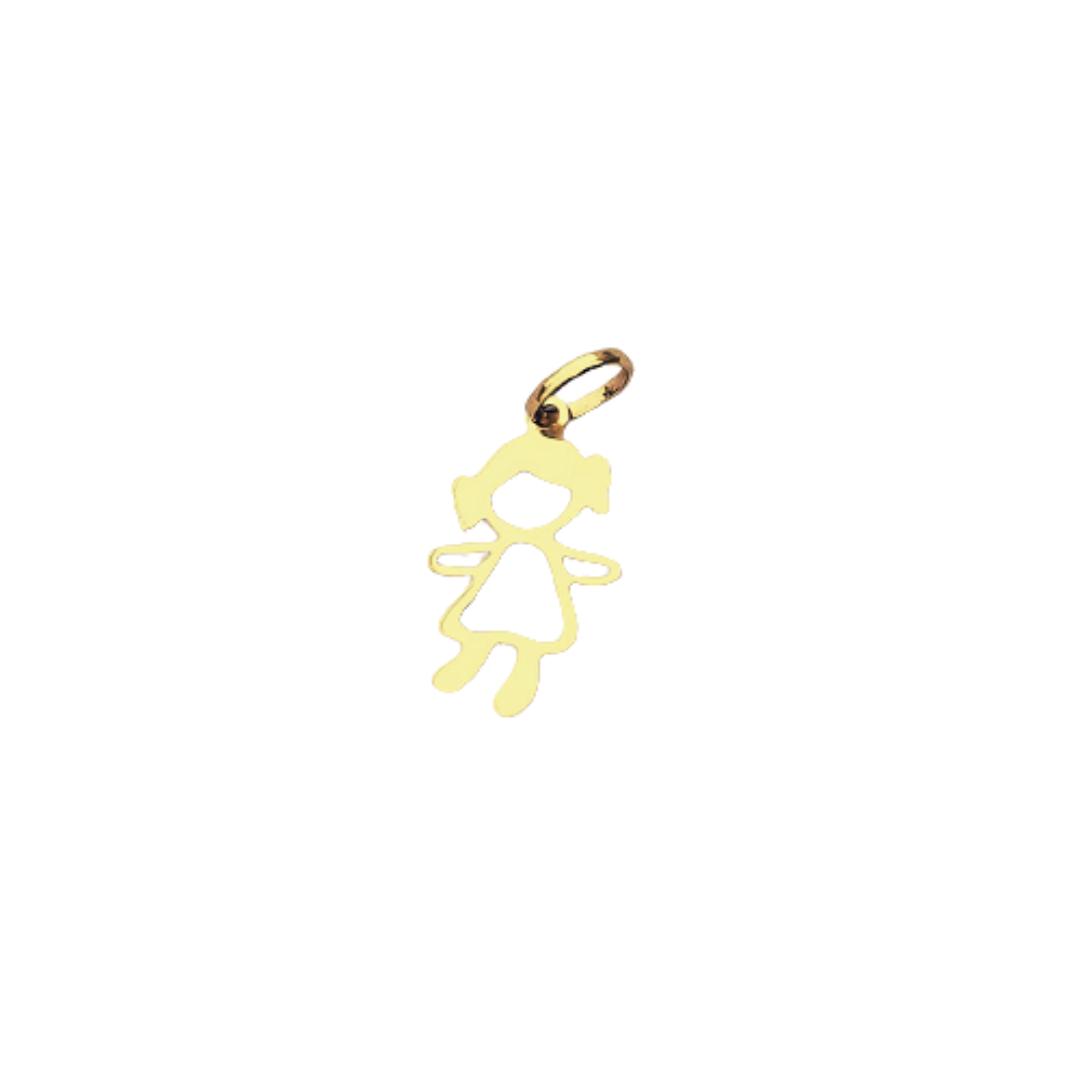 Pingente Menina em Ouro 18K