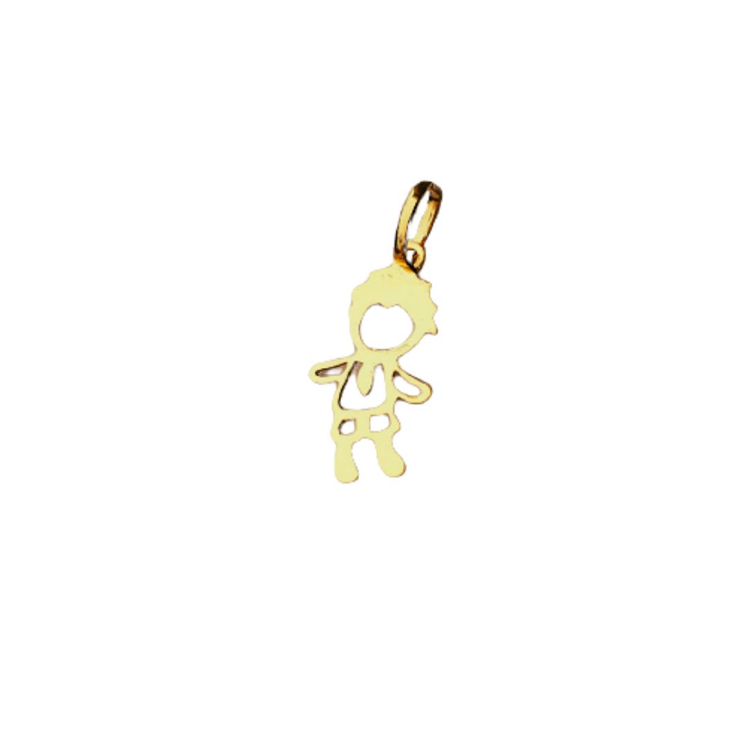 Pingente Menino em Ouro 18K