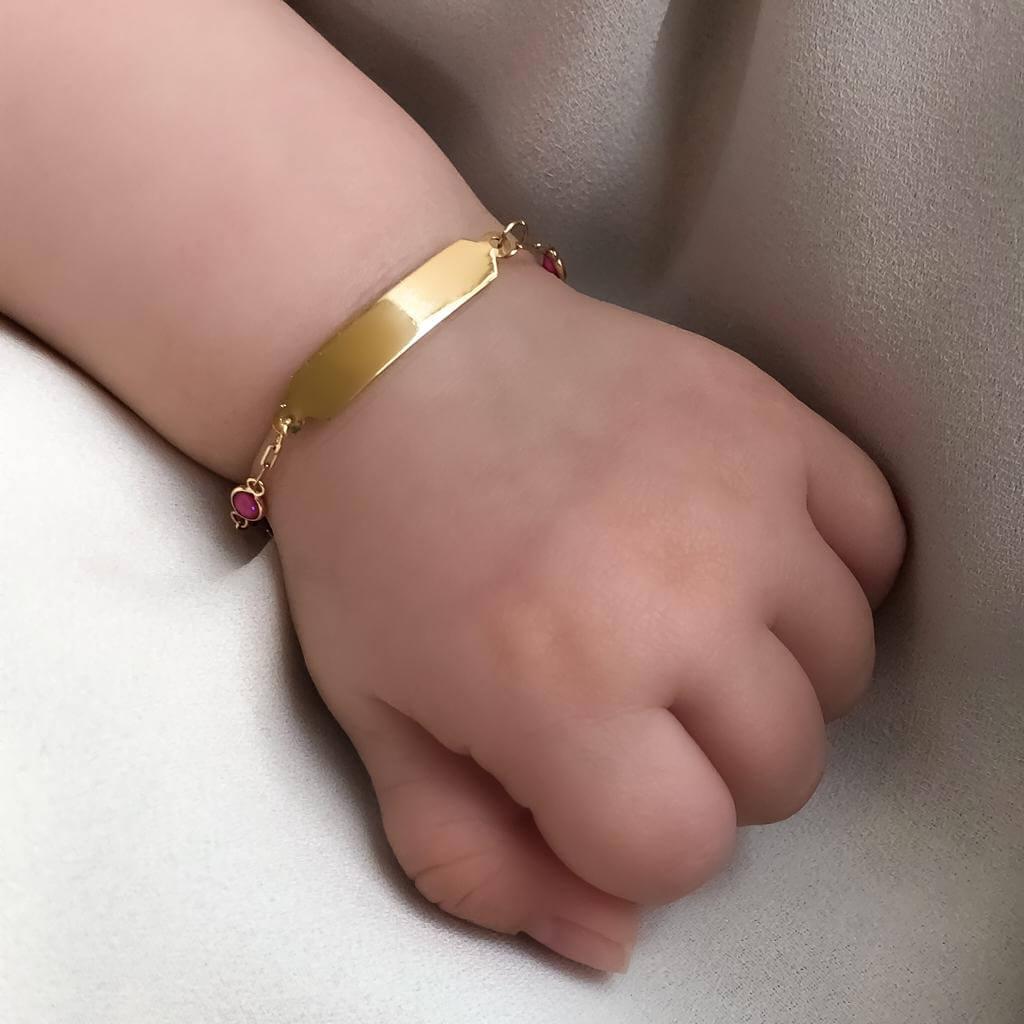 Pulseira Ouro 18k 13,cm (Plaquinha)