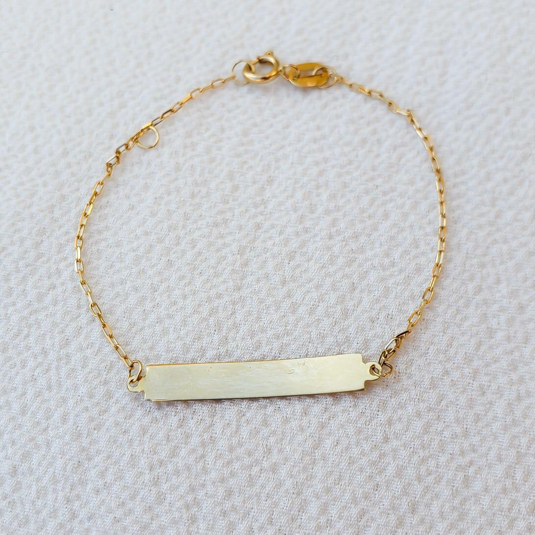 Pulseira Ouro 18k 13cm (Plaquinha)