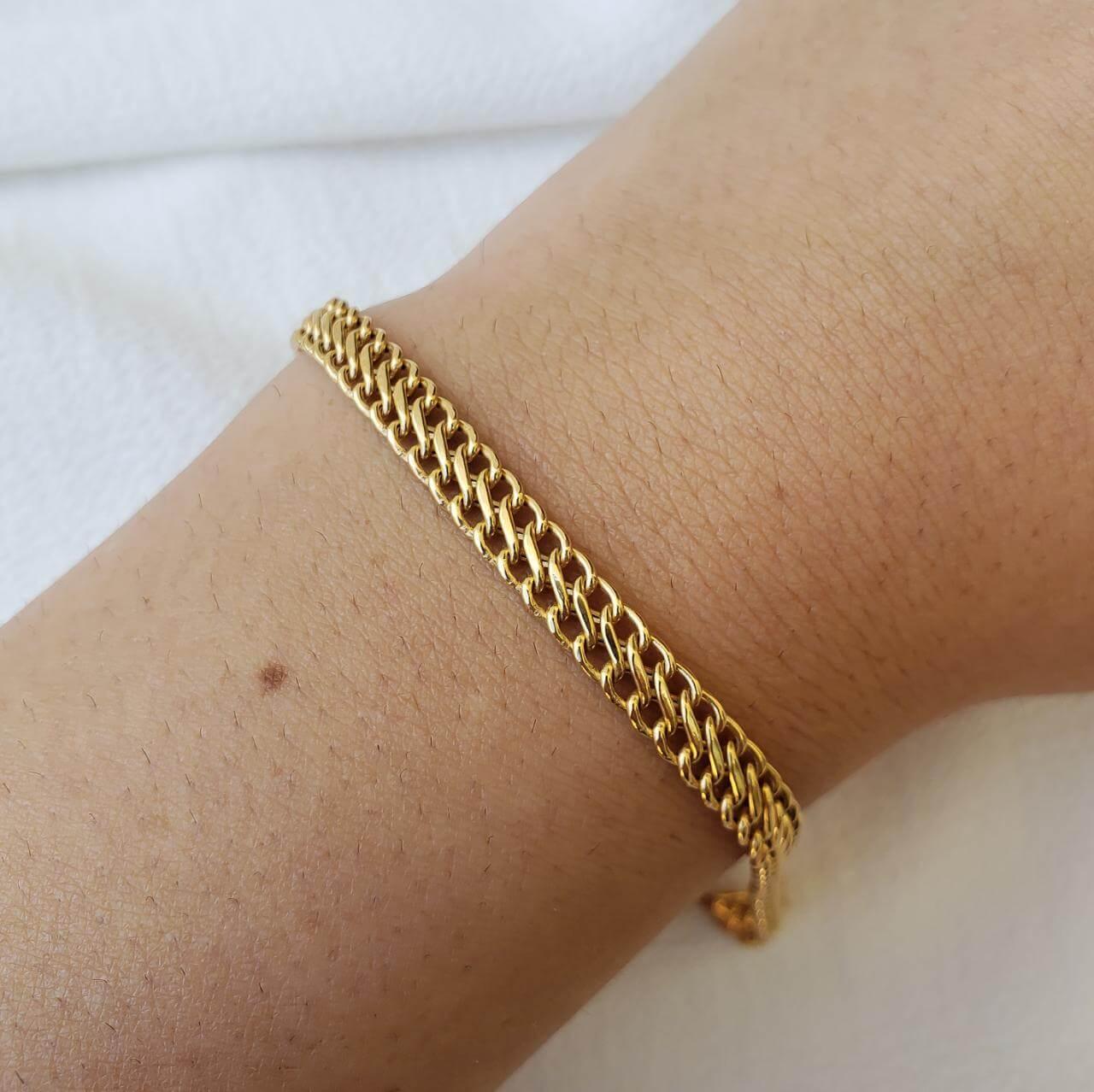 Pulseira Ouro 18k 19cm