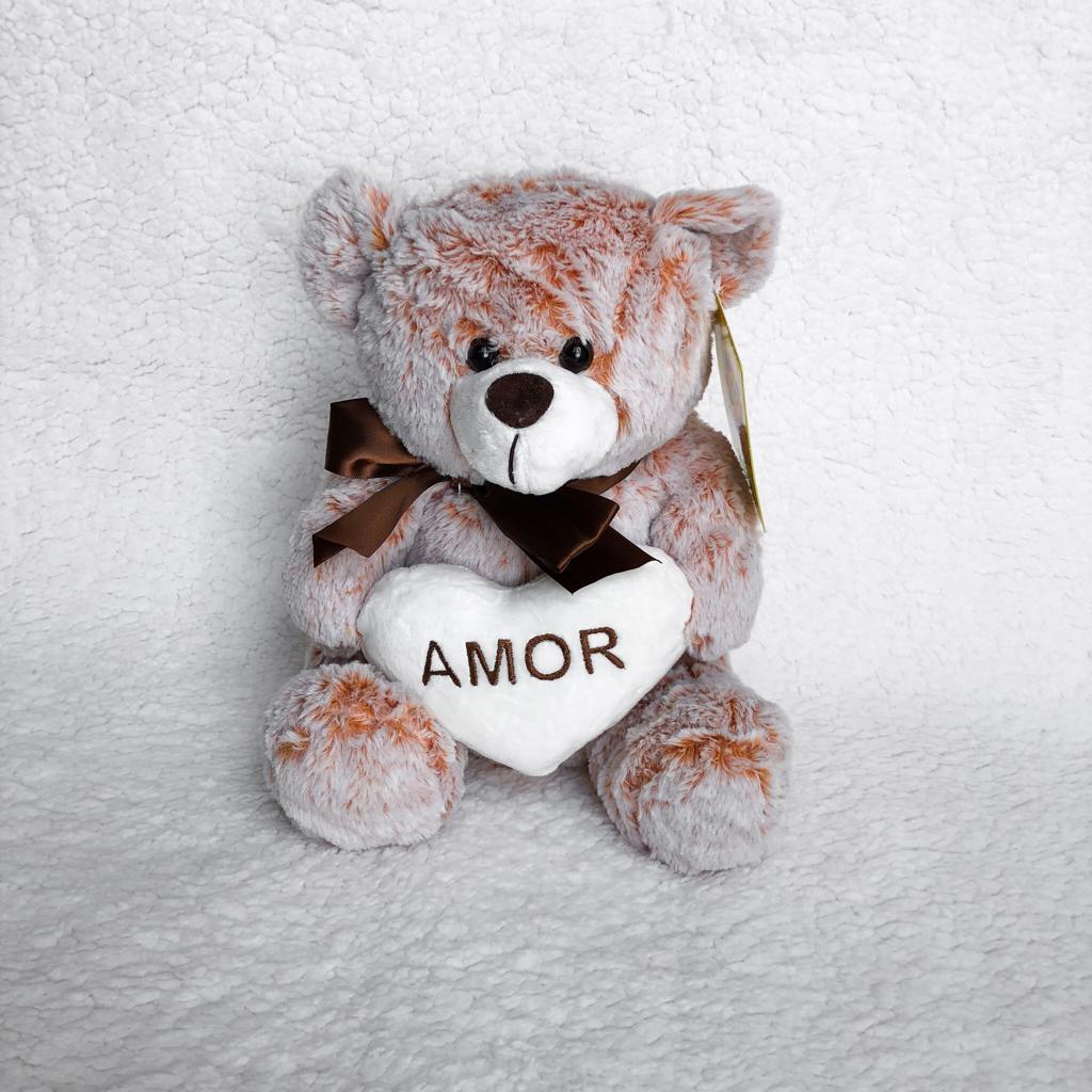 Ursinho De Pelúcia Amor com Coração Branco P