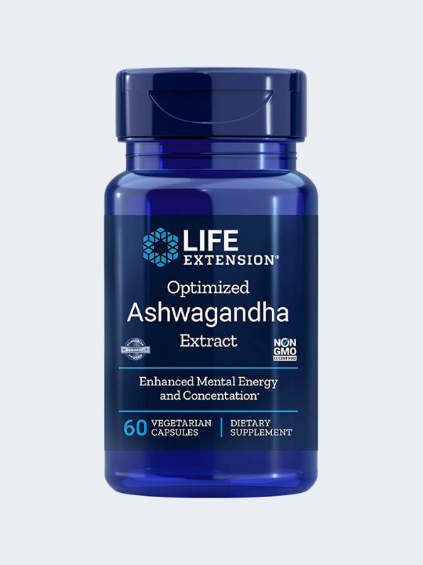 ASHWAGANDHA - LIFE EXTENSION - 60 CAPSULAS