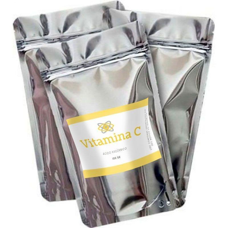 COMBO Vitamina C 100 gr 3 UNIDADES (Ácido Ascorbico)