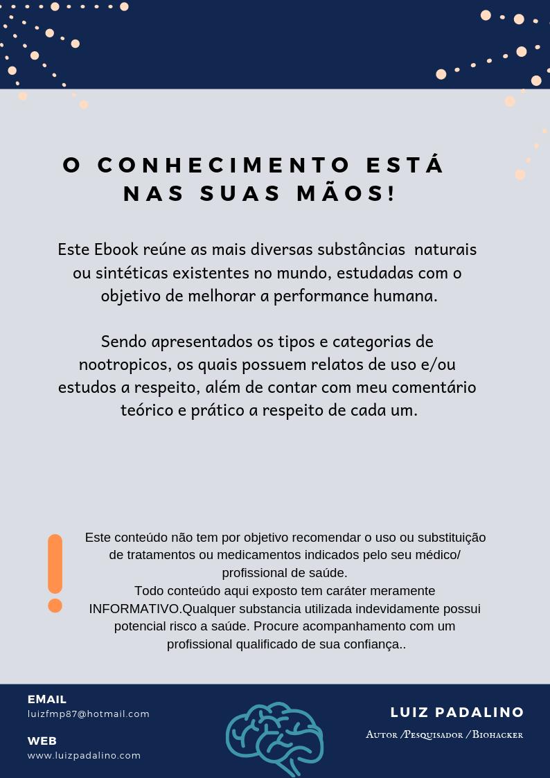 EBOOK NOOTRÓPICOS - Luiz Padalino
