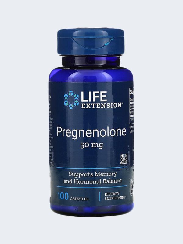 PREGNENOLONA  - LIFE EXTENSION - 50 MG 100 CAPSULAS