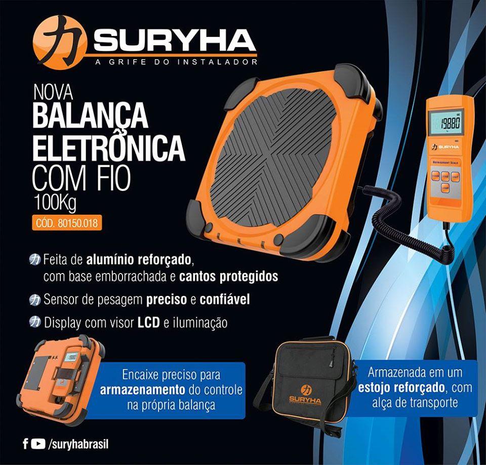 Balança Eletrônica 100kg Com Fio Suryha