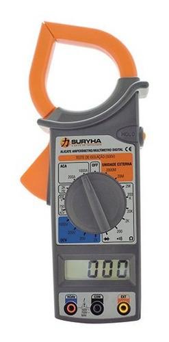 Multimetro alicate amperímetro Suryha