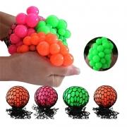 Bola Anti-stress Colorida Squishy Mesh Ball Uva Fidget Toy