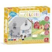 Casinha Divertida Para Colorir - Brincadeira De Criança