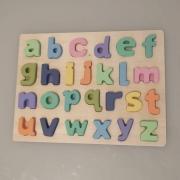 Encaixe divertido - letras minúscula - colorida - mdf - Toy Mix