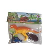 Kit Dinossauro com filhote e acessórios