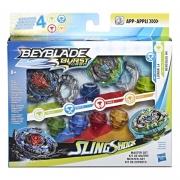 Lançador e Pião De Batalha - Beyblade - Slingshock Master Multipack - Hasbro
