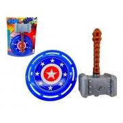 Martelo e Escudo Coleção Heróis - Brinquedos Pica Pau