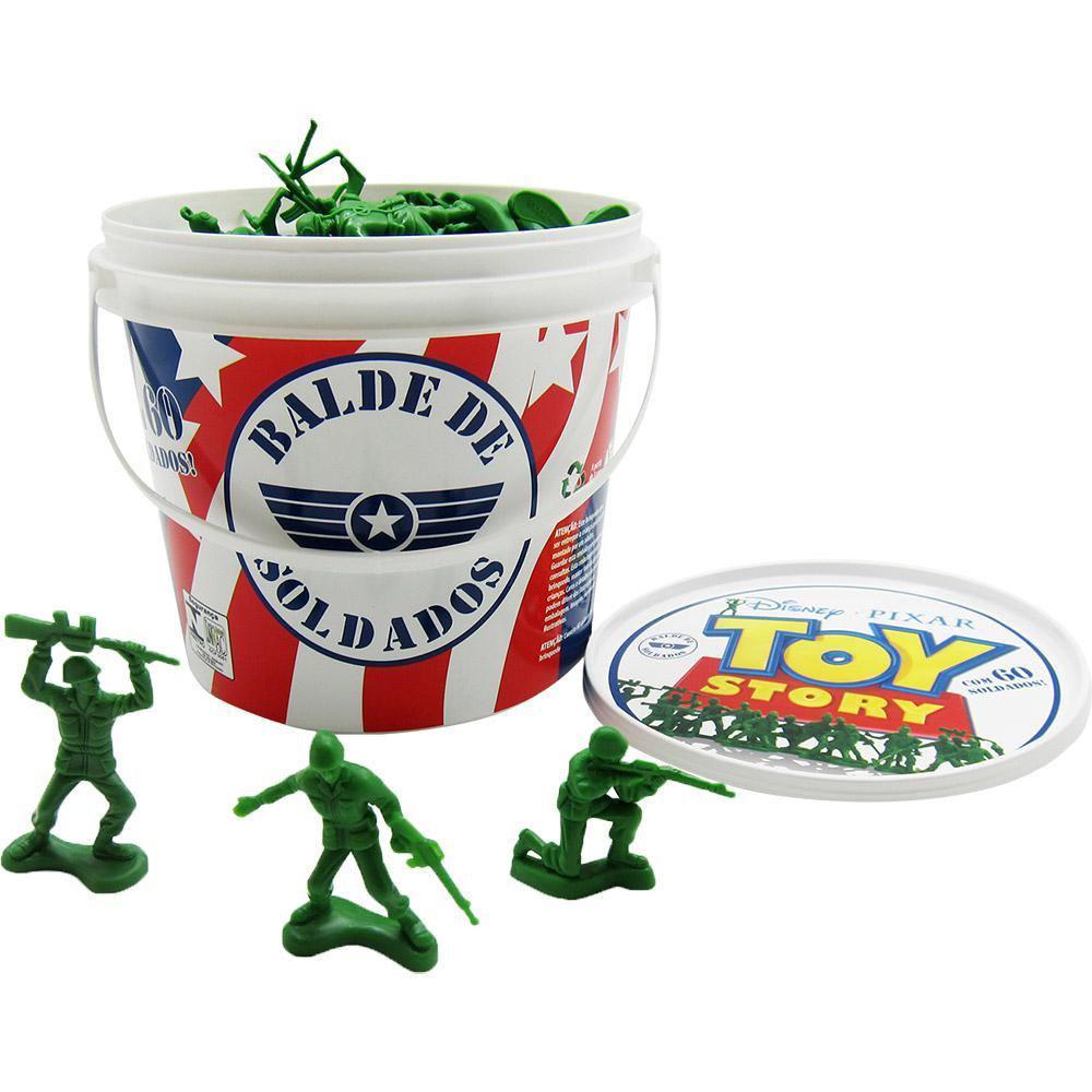 Balde Soldade Miniaturas - Toy Story