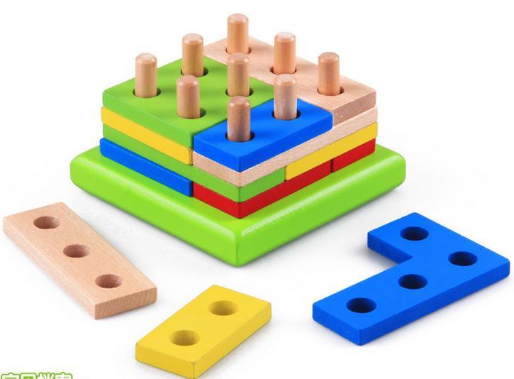 Blocos De Construção De Montagem Geométrica - Blessed