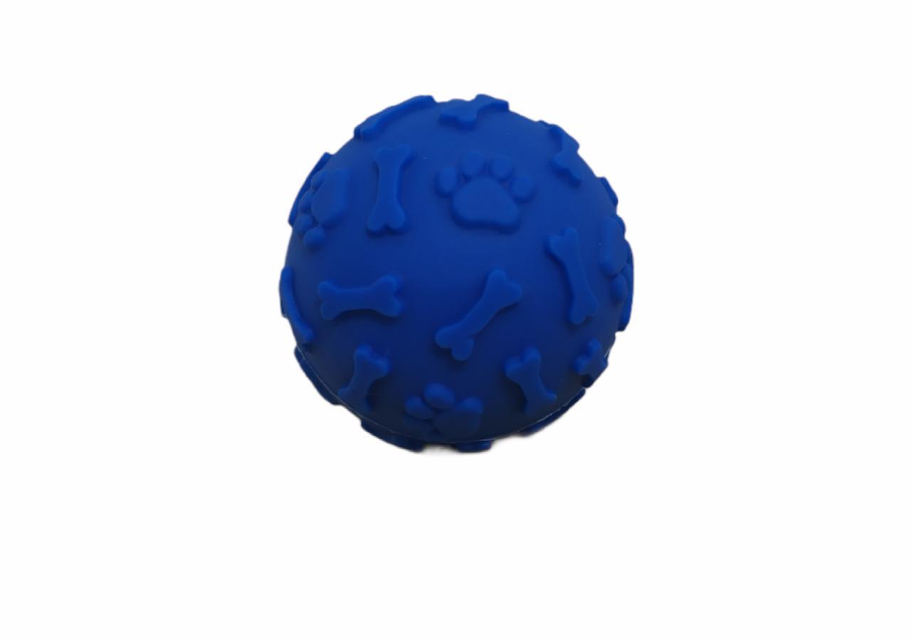 Bola Pet Decorada com Ossinho e Patinhas 7cm. - Lasf
