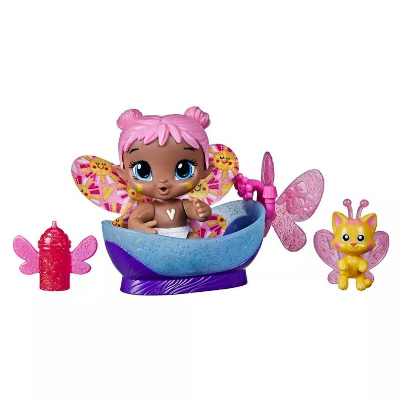 Boneca Baby Alive Glo Pixies Minis Bubble Sunny - Hasbro