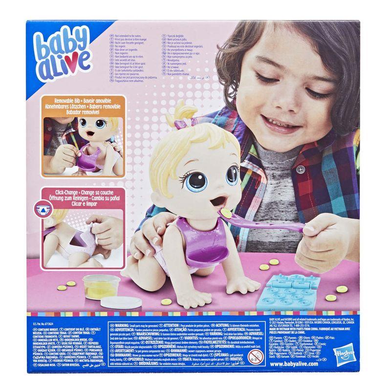 Boneca Baby Alive Loira e Acessórios Hora da Papinha - Hasbro
