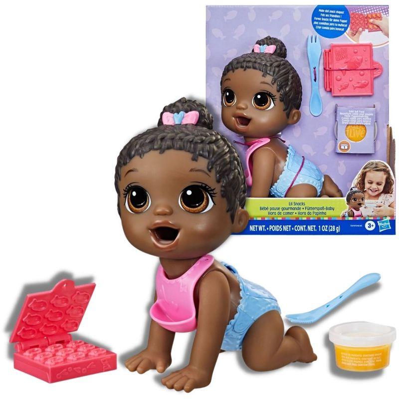 Boneca Baby Alive Negra e Acessórios Hora da Papinha - Hasbro