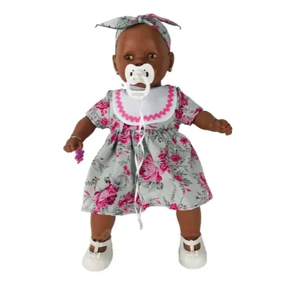 Boneca Nenezinho Negra - Estrela