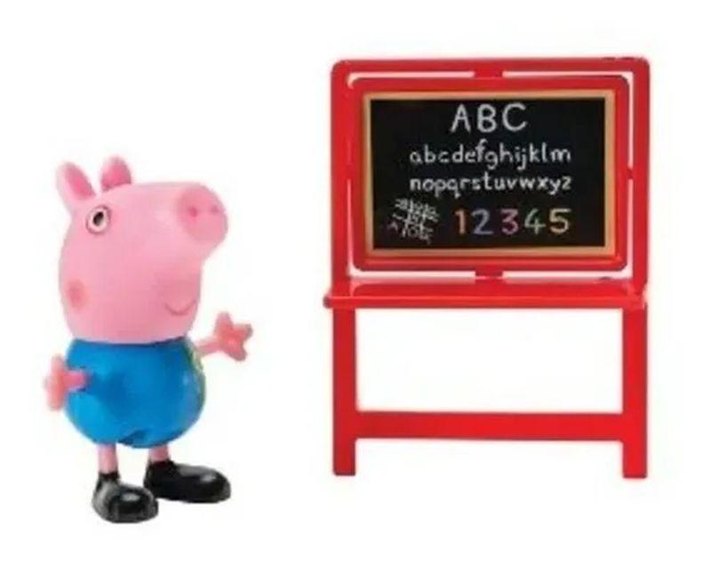 Boneco George na Escola - Peppa Pig Brinquedo - Sunny